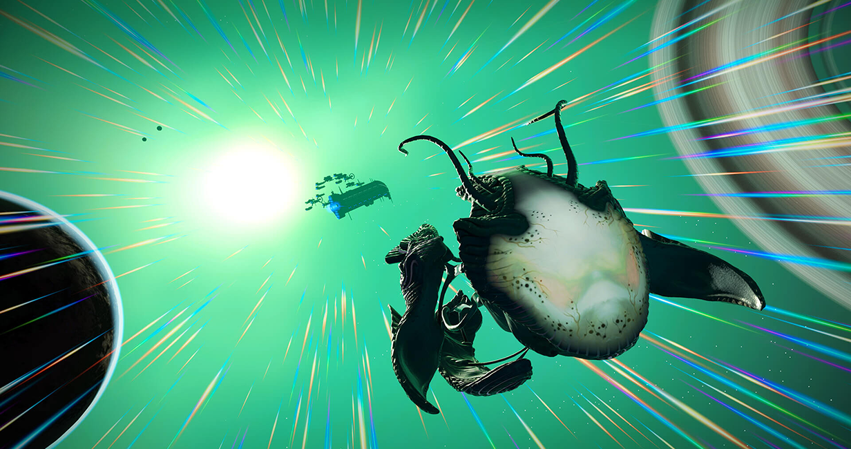 Living ships added to No Man's Sky in latest update