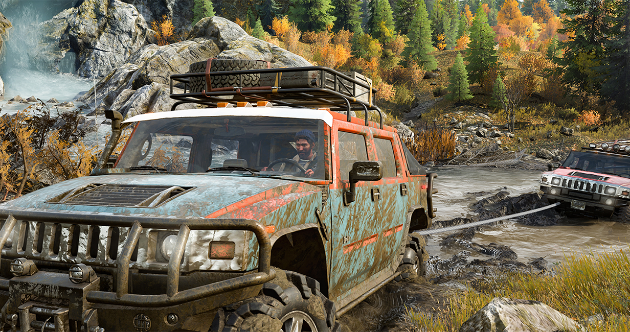 Off-road driving game SnowRunner shows off wilderness